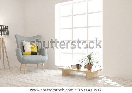 кресло домой интерьер объекты аннотация дизайна Сток-фото © ElaK
