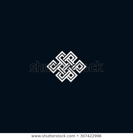 black knot infinity symbol vector Stock photo © blaskorizov