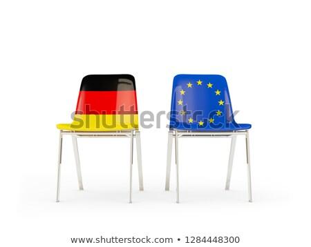 Dos sillas banderas Alemania ue aislado Foto stock © MikhailMishchenko
