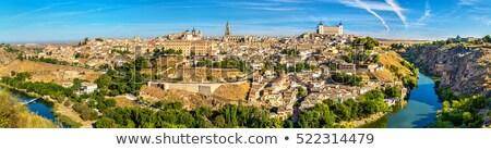 zmierzch · Hiszpania · Cityscape · Madryt · domu · miasta - zdjęcia stock © benkrut