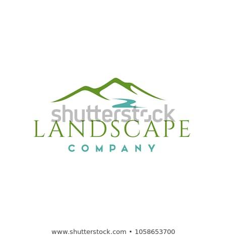 montanhas · logotipo · modelo · céu · abstrato · paisagem - foto stock © blaskorizov