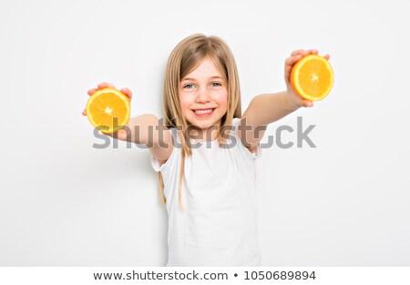 Feliz pequeño cinco año edad nina Foto stock © Lopolo