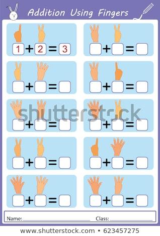 Matemática dedos ilustração fundo arte exercer Foto stock © colematt