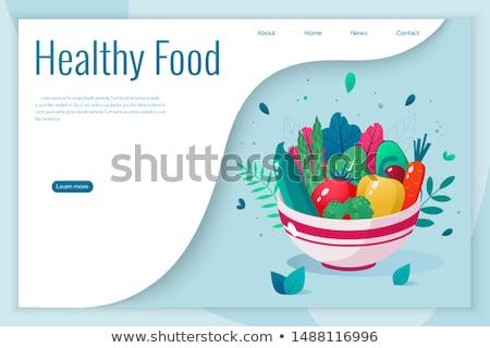 Veganistisch rauw voedsel landing pagina witte vrouw Stockfoto © RAStudio