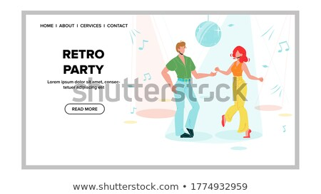 dancing women and men disco perfomance vector stock photo © robuart