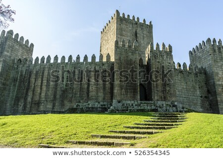 medieval castle in guimaraes stock photo © homydesign