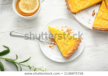Sweet lemon tart Stock photo © boggy