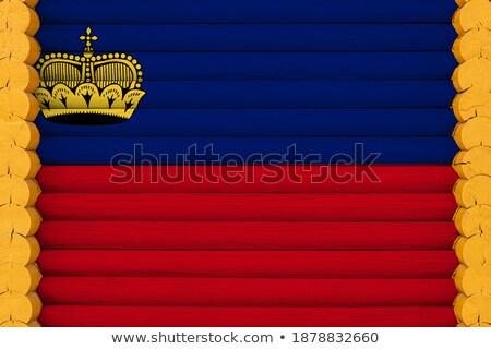 дома флаг Лихтенштейн белый домах Сток-фото © MikhailMishchenko