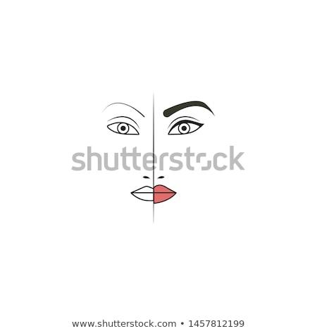 Rosto make-up vetor profissional hábil Foto stock © robuart
