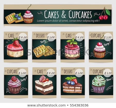 Romig cake witte chocolade geïsoleerd Stockfoto © boggy