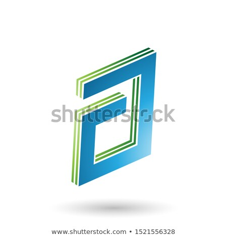 Green and Blue Rectangular Layered Letter A Stock photo © cidepix