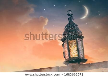 Or glitter lune ramadan heureux fond Photo stock © SArts