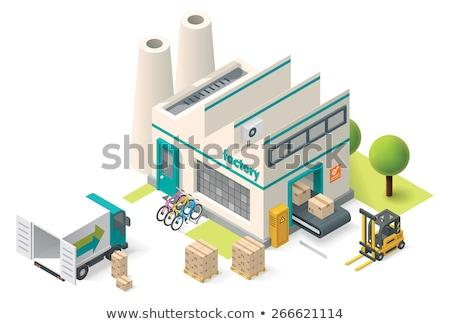 Industry Plants Factory Isometric Illustration Stock photo © artisticco