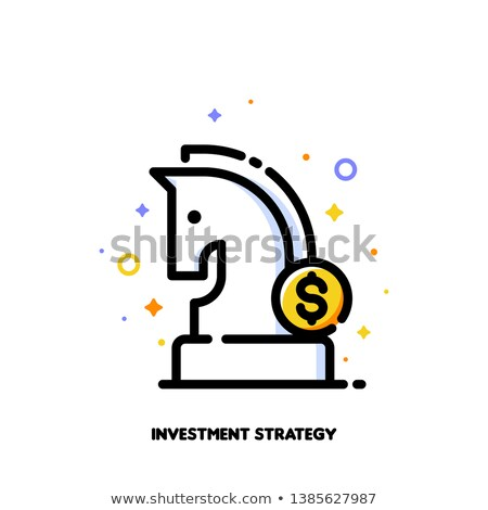 icon of knight chess piece and dollar sign for investment strategy stock photo © ussr