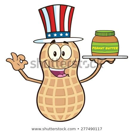 Grappig amerikaanse pinda cartoon mascotte karakter Stockfoto © hittoon