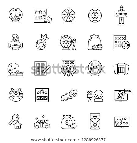 Bingo ícone branco papel assinar tabela Foto stock © smoki