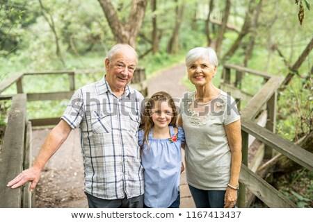 Grands-parents été forêt bon temps deux Photo stock © Lopolo