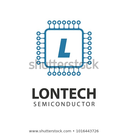 Microchip icon. CPU, Central processing unit, computer processor, chip symbol. Abstract technology l Stock photo © kyryloff