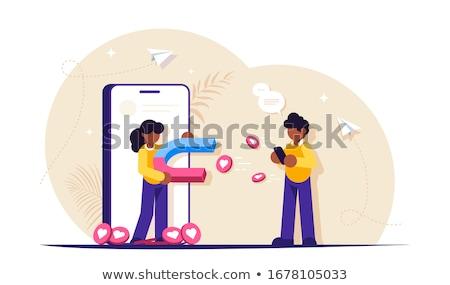 Attracting followers concept vector illustration Stock photo © RAStudio