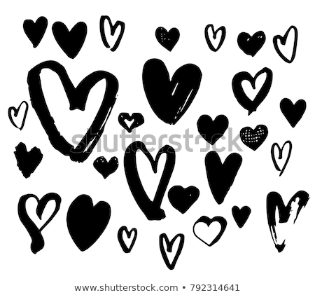 set · san · valentino · icone · rosa · line - foto d'archivio © marish