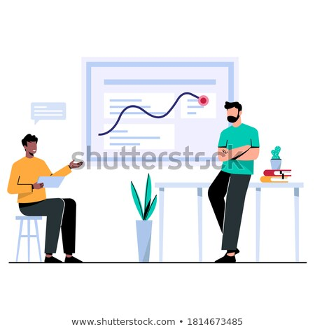people analyst and manager have discussion cartoon stock photo © robuart