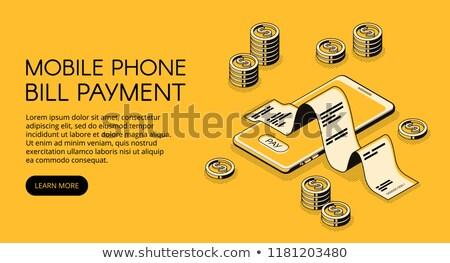 Pagamento online fattura tecnologia poster vettore Foto d'archivio © robuart