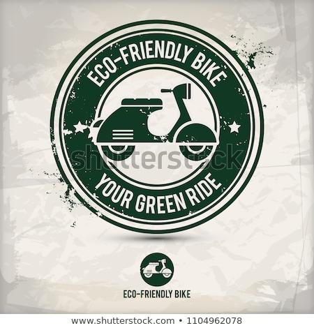 alternative eco friendly bike stamp Stock photo © szsz