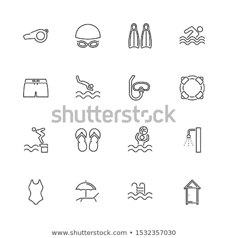 Icon Of Swimming Flippers Stock photo © angelp