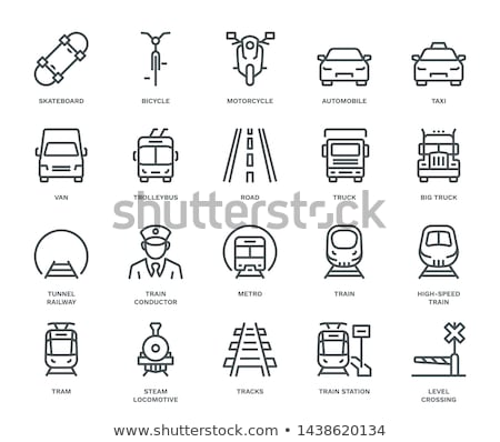Tram Icon Front View Stock photo © angelp
