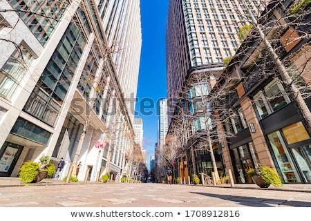 Modernes quartier des affaires Paris ciel bleu France ciel Photo stock © Givaga