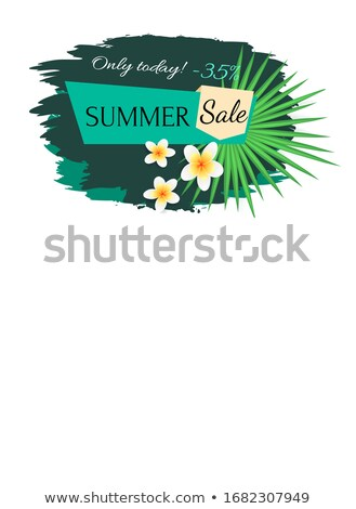 Summer Sale Poster with Tropical Vanilla Flowers Stock photo © robuart