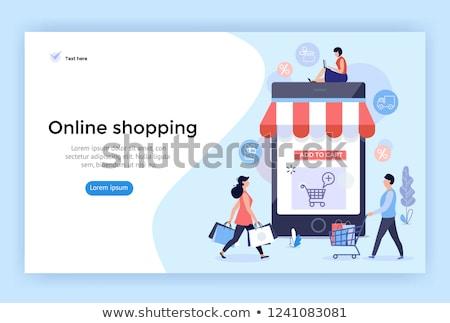 Online alışveriş ayarlamak vektör web Stok fotoğraf © Decorwithme