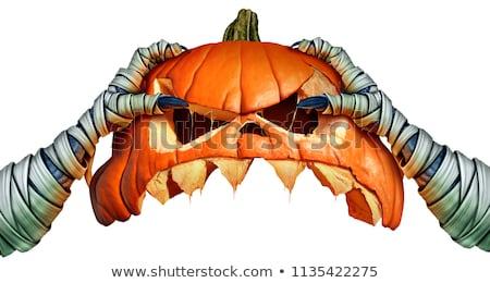 halloween · el · korkutucu · kafatası · dondurma - stok fotoğraf © furmanphoto