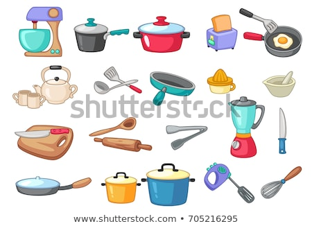 Kitchenware Utensils Collection Color Set Vector Stock photo © pikepicture