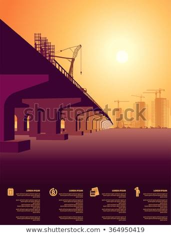 Construção novo cidade infra-estrutura trabalhadores equipe Foto stock © robuart