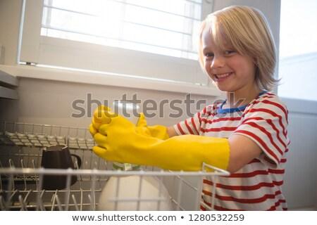 мальчика кухне домой улыбаясь жизни Сток-фото © wavebreak_media