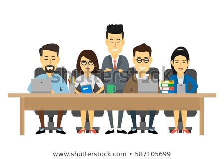 Asian Chinese Business People Teamwork Meeting Vector Illustrati Stock photo © artisticco