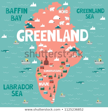 Greenland country and arctic animal map concept Stock photo © cienpies