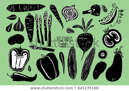 Cute eggplant cartoon hand drawn style Stock photo © amaomam