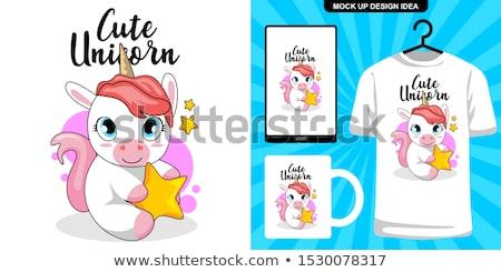 Cute panda poster vector eps 10 Stockfoto © rwgusev
