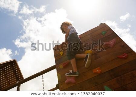 мнение школьница скалолазания стены школы Сток-фото © wavebreak_media
