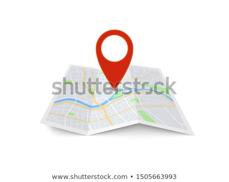 Colorful Markers Pointer with Paper Road Map. GPS Location Icon. Stock photo © Valeo5