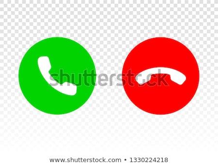 Ikona przycisk spadać rozmowa telefoniczna zielone Zdjęcia stock © ussr