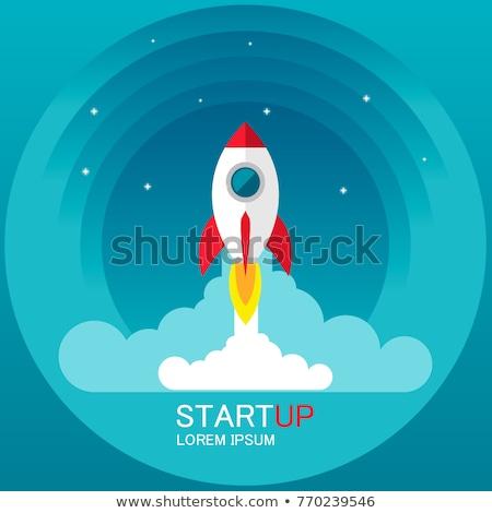 Roket renk örnek başlangıç iş Stok fotoğraf © barsrsind