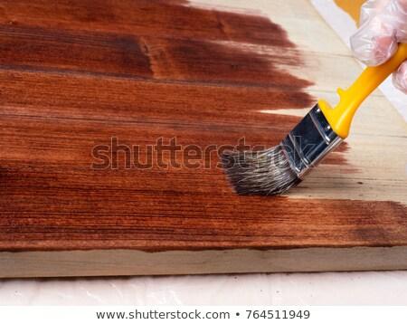 рук · рабочих · древесины · золото · фильма · Живопись - Сток-фото © shamtor