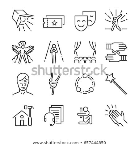 Billets masques drame comédie vecteur jouer Photo stock © robuart
