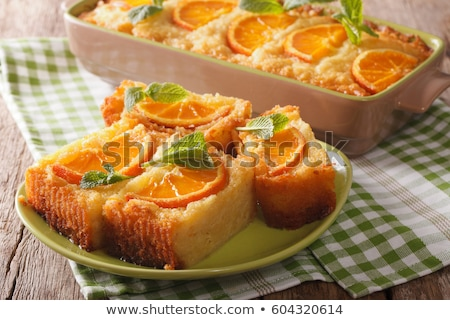 Portokalopita orange cake Stock photo © Alex9500