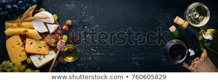 カマンベール チーズ ガラス ワイン 白ワイン 表 ストックフォト © Alex9500