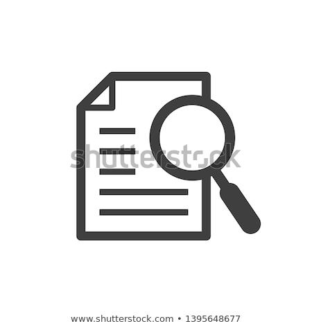 случае исследование икона вектора иллюстрация Сток-фото © pikepicture