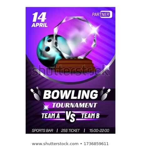 Bowling club premio poster vettore Foto d'archivio © pikepicture